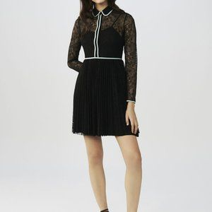 Brand New Maje Rabilo Pleated Floral-Lace Dress